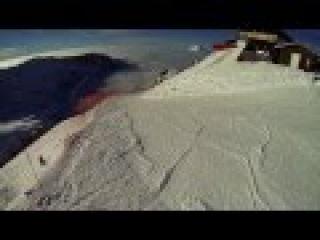 Спуск по трассе Карусель, Сочи 2015, сноуборд видео, спуск с небес ))