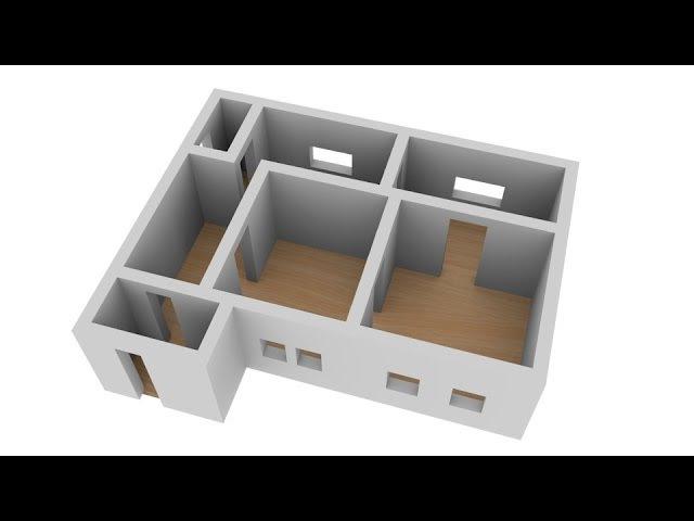 Создание трехмерного плана дома в Blender