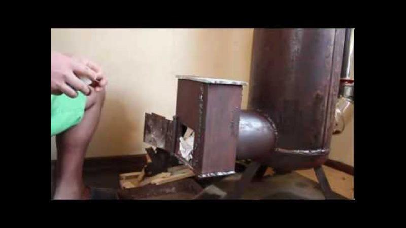 печь ракета из газового баллона(rocket stove)