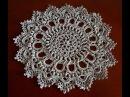 Круглая салфетка крючком Вязание салфетки Салфетка крючком Ч 1 crochet doily P 1