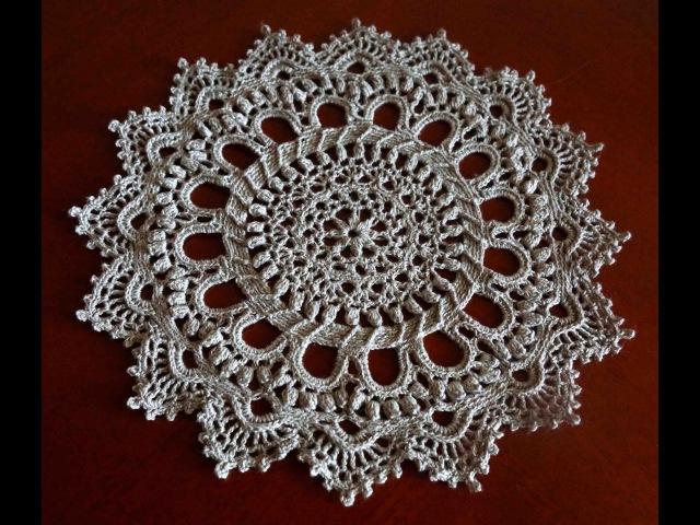 Салфетка крючком часть 1 (crochet doily Part 1)