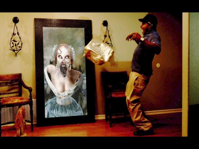 Paranormal Activity Digital Portrait Zombie Halloween Prank
