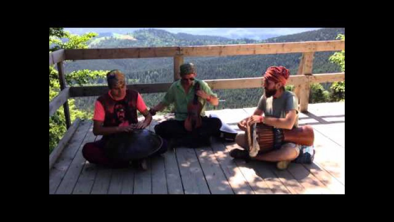 OMana Handpan,violin,djembe-Carpathians improvisation
