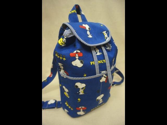 清秀佳人布坊 手作教學 有袋蓋的抽繩水桶背包