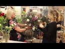 Мастер-класс - букет на каркасе с сиренью и розами, студия цветов Slava Rosca