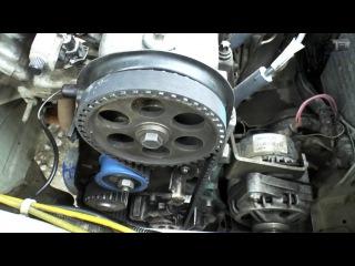 Замена ремня ГРМ 8 клапанный двигатель ВАЗ 2114, 2115. Выставление зажигания по меткам.