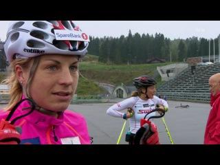 Женская сборная Норвегии по биатлону получает советы и помощь в тренировках от лыжницы - чемпионки мира 2007 в спринте - Астрид Якобсен