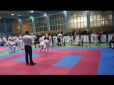 1-й бой кумитэ (финал) Кубок Харьковской области по каратэ JKS (14-11-15)