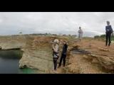 Дорошенко Яна мыс Фиолент. Роупджампинг в Крыму с командой Скайлайн