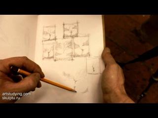 """О пейзаже, """"пятнах"""" и композиции - Обучение живописи. Масло. Введение, 9 серия » Freewka.com - Смотреть онлайн в хорощем качестве"""