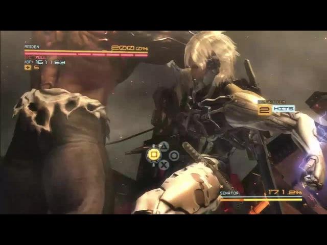 Raiden Destroys Senator Armstrong (MGR: Revengeance)