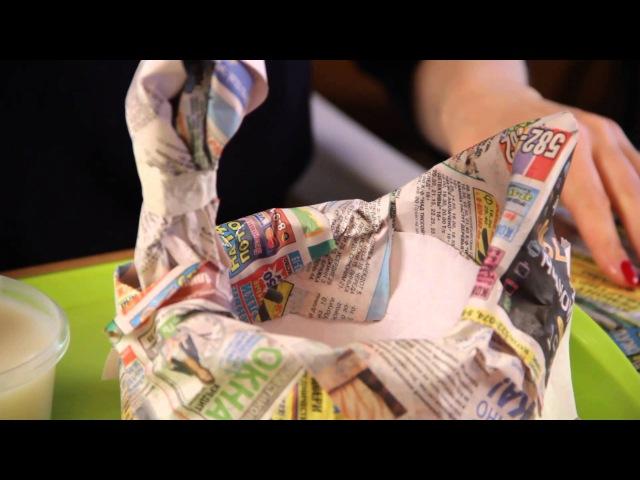 Ручная работа Курочка вазочка из папье маше 15 04 2015