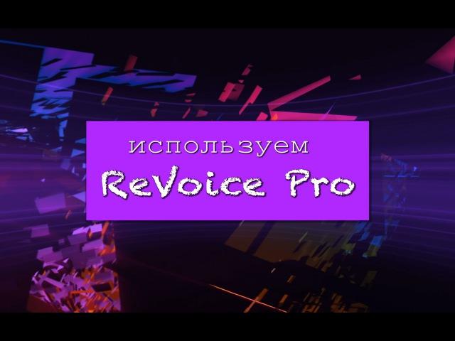 Используем Revoice Pro от Synchro Arts
