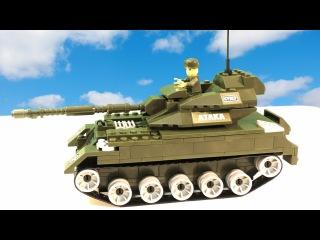 Большой Танк ЛЕГО распаковка игрушки Собираем и Играем LEGO Tank