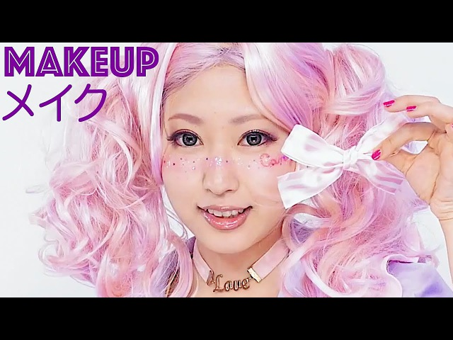Super Kawaii MAKEUP TUTORIAL by Japanese model Kimura U with CANDY A☆GO☆GO