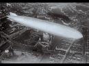 История авиации Гигант дирижабль Цеппелин с пассажирами в небе над Берлином 1929 г кинохроника