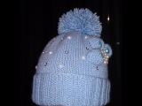 Вязаная детская шапочка!Вяжем вместе.Baby Beanie!knitting Шапка девочкам и мальчикам как украсите!