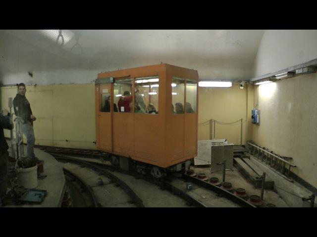 Ascensore Montegalletto Funicular Railway. Unique Underground Narrow Gauge Railway. Genoa Tourism.