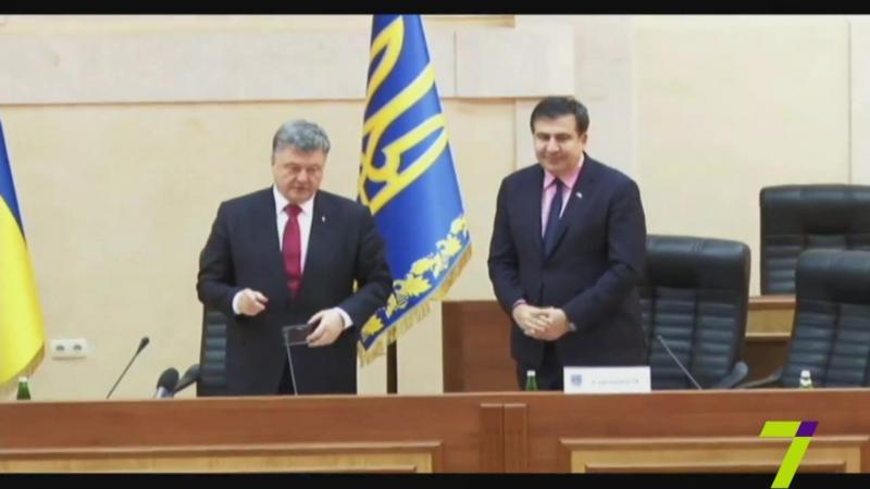 Полная запись выступления в Одессе нового губернатора Саакашвили - украинца имени Петра Порошенко. 30.05.2015.