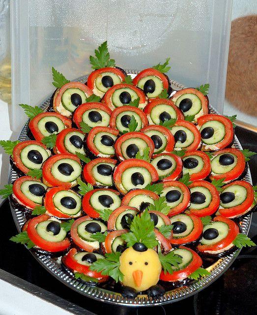 Украшение салатов в домашних условиях с фото