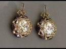 Sidonia's handmade jewelry - Beaded earrings - 16mm Rivoli, 6mm fire polished beads