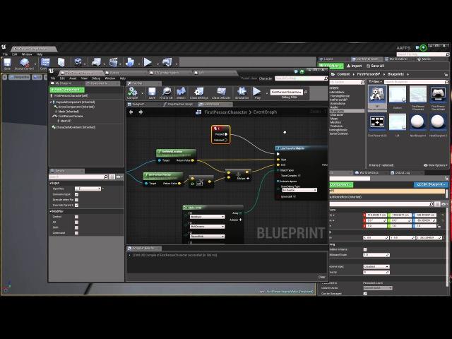 Как сделать Взаимодействие с объектами (на примере кнопки) в UE4