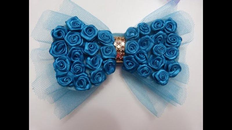 Moño Corbatín decorados con Flor Rococo,Bow tie decorated with Rococo Flower