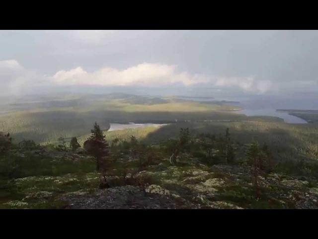 Вид с горы Кивакка на озеро Пяозеро, Карелия.