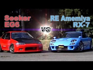 [ENG CC] Seeker EG6 vs. RE Amemiya RX-7 Touge battle HV77