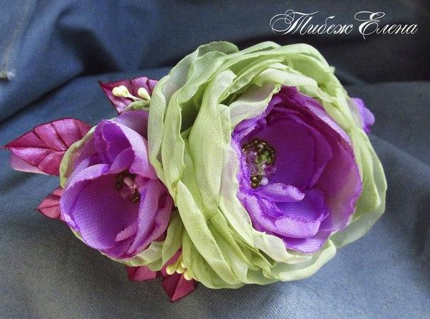 Фото мастер класс цветы из шифона своими