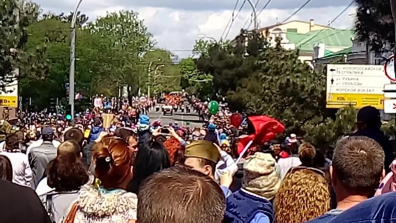 Новороссийск. Парад 9 мая! ул.Советов