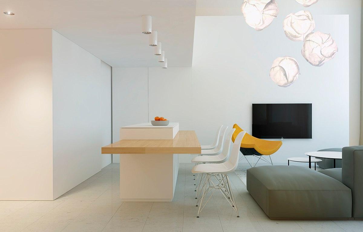 Интерьер квартиры в современном скандинавском стиле