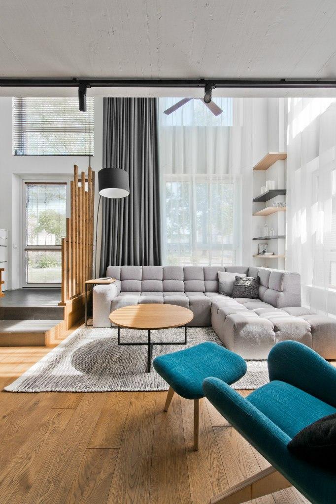 Интерьер квартиры-лофт, дизайн в скандинавском стиле