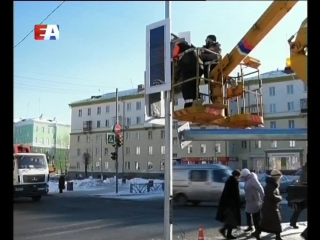 """Светлое будущее дорожной сети. В Первоуральске началась установка """"умных"""" светофоров."""
