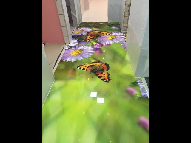 Наливной пол с рисунком Технология монтажа Как делают 3д полы видео