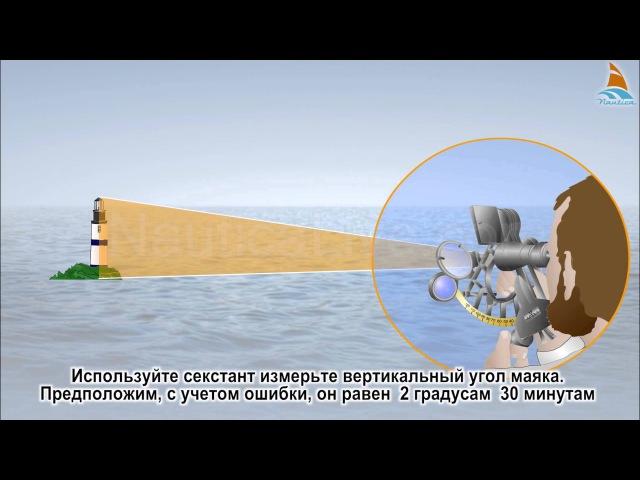 36 Обсервация пеленг и вертикальный угол секстанта 1