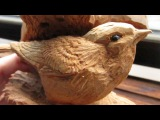 the bread of the BUSH WARBLER!! Wood carving!