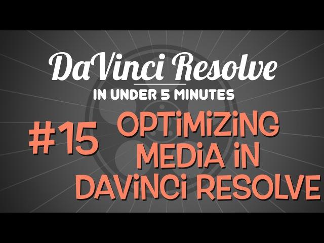 DaVinci Resolve in Under 5 Minutes: Optimizing Media in DaVinci Resolve 12