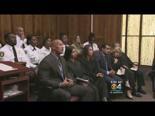Dwyane Johnson Attends Local Corrections' Boot Camp Graduation