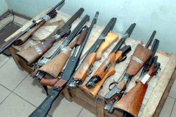 За неделю полицейскими изъято 109 единиц оружия