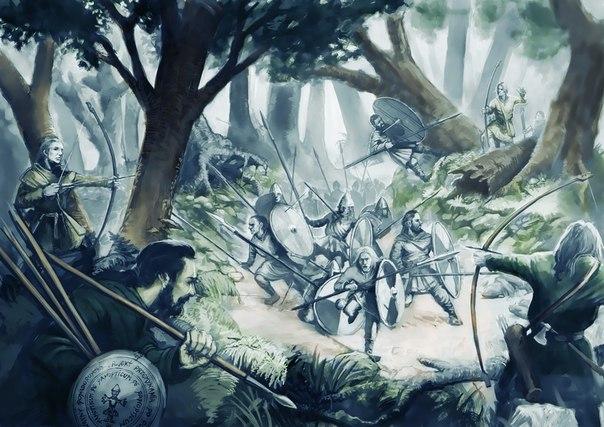 Воинская подготовка и боевая тактика славянских племен