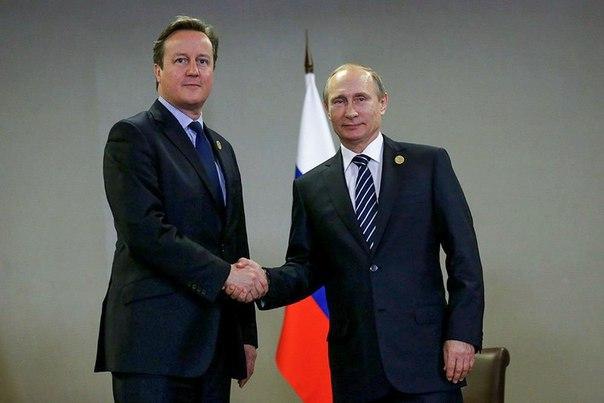 Путин и Кэмерон договорились объединить усилия в борьбе с терроризмом