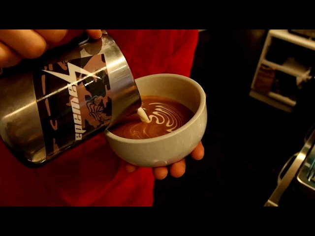 Latte art 12oz Triple rosetta by Yusuke Ota