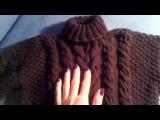 Свитер с косами для мальчика ( вяжем рукава) Часть 2