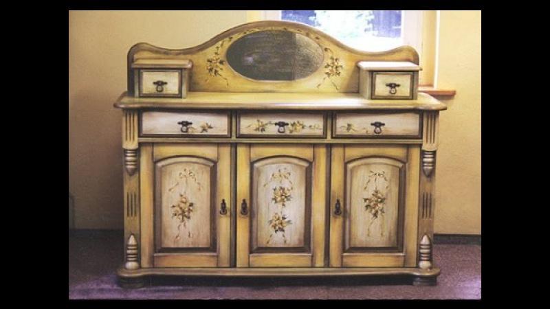 Декупаж мебели: вторая жизнь старых вещей