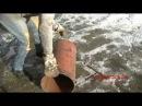 Как сделать печь длительного горения на дровах из трубы Обогрев мастерской