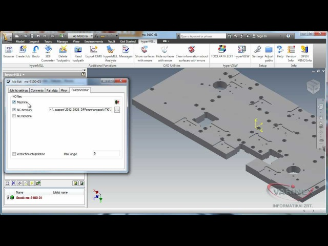 OPEN MIND hyperMILL in Autodesk Inventor - 2.5 axis machining overview