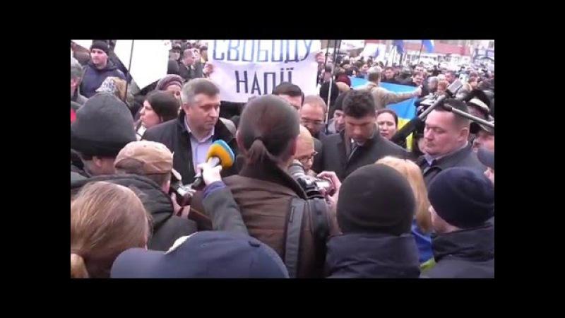 Ю.Тимошенко. Забрасали посольство России в Киеве -9 марта 2016