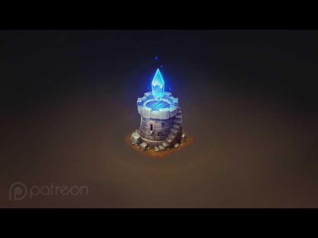 How to Draw For Games | Isometric Crystal Tower | Patreon