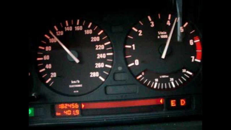 BMW e32 750i V12 Autobahn 50-250KmH 300PS acceleration Beschleunigung speed test